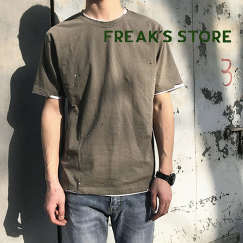 [FREAK'S STORE] PAELEE Layered Painted S/S Tee