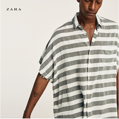 [ZARA] STRIPE OVER-FIT Shirts