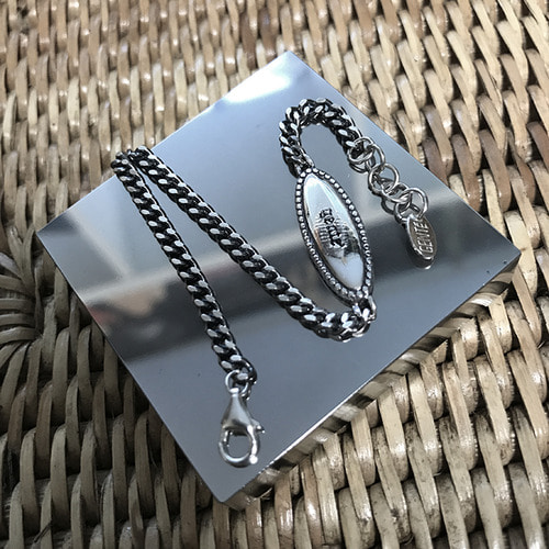 [GENTE] antique3mmchain Bracelet (ALL SILVER) 앤틱유화실버팔지