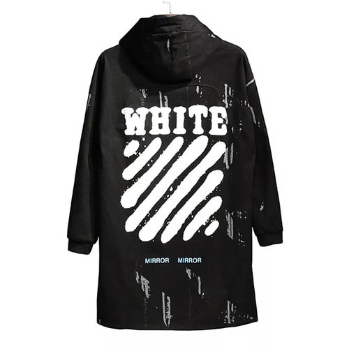 OFF-W LOGO PRINTING LONG JACKET