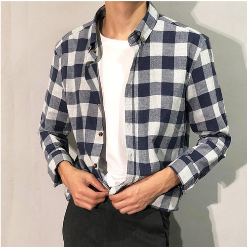 [WHO'S WHO] Cotton Check shirts