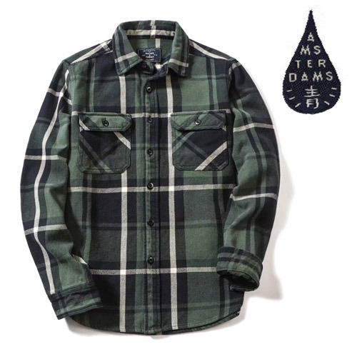 [MORATA TOLKINE] HEAVY GREEN CHECK SHIRTS