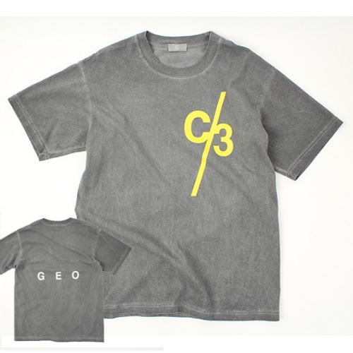 [THEJOON] C/3 GRAY WASHED S/S T
