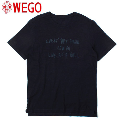 [WEGO] Easton Navy Print S/S Tee 프린트티