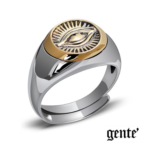 [GENTE] THIRD EYE SILVER RING