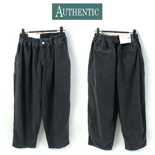[AUTHENTIC] BALLOON WASHING BLACK WIDE PANTS 와이드 벌룬팬츠