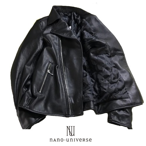 [nano universe/STOCK] RIDERS LEATHER JACKET  양가죽 라이더자켓 나노유니버스