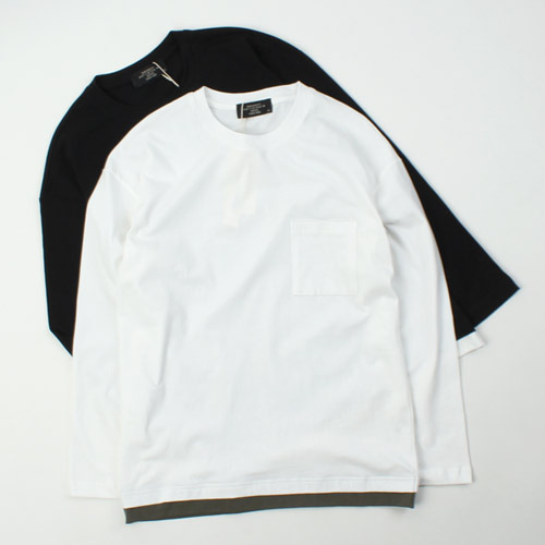 [ARCATO] LAYERED POCKET LONG TEE 레이어드 포켓롱티