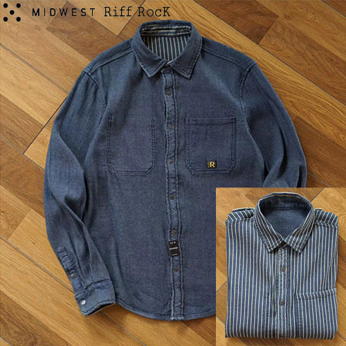 [MIDWEST]Riff RocK Reversible Denim Shirts 양면데님셔츠
