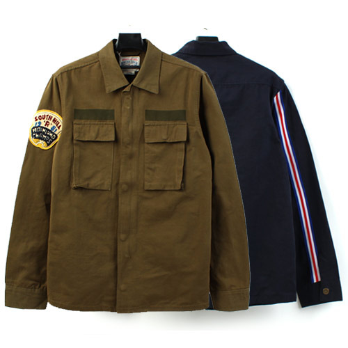 [AUSTOM&VUBTP] Patch Line Shirts Jacket