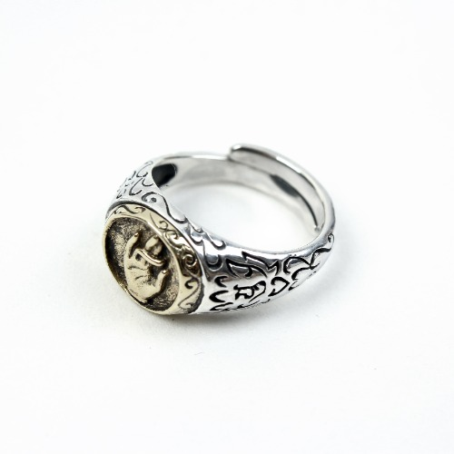 [GENTE] BUDDHA HANDS SILVER RING