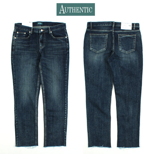 [AUTHENTIC] Washed Crop Jeans 워시드크롭진
