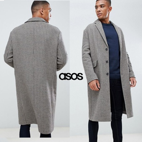 [ASOS] NEW LOOK OVER COAT IN Hound's Tooth