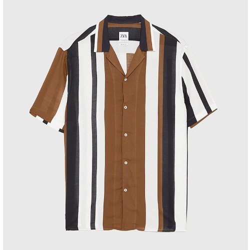 [ZARA MAN] FLUID 1/2 STRIPE SHIRTS
