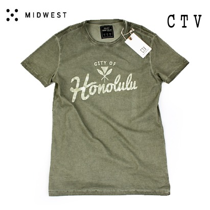 SALE [MIDWEST] C.T.V GN Washing T  나염티셔츠