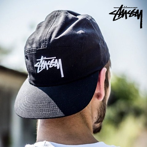[STUSSY] Stock Camp Cap (WHITE,BLACK)