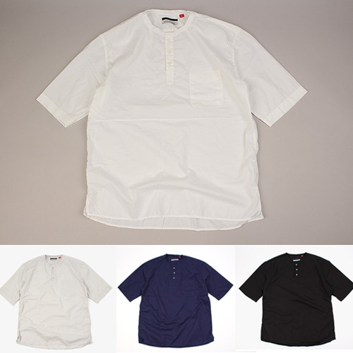[THEJOON] 3 BUTTON  1/2 SHIRTS