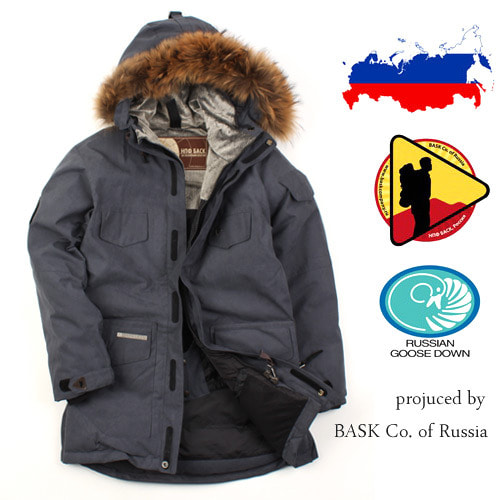 [BASK Russia]  RUSSIA GOOSE DOWN PARKA GY 바스크 프리미엄 구스다운