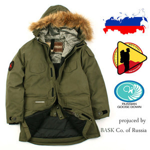[BASK Russia]  RUSSIA GOOSE DOWN PARKA KH 바스크 프리미엄 구스다운
