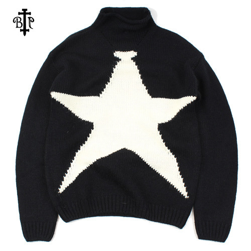 [BEEJEAN] STAR  TURTLENECK SWEATER 마지막수량