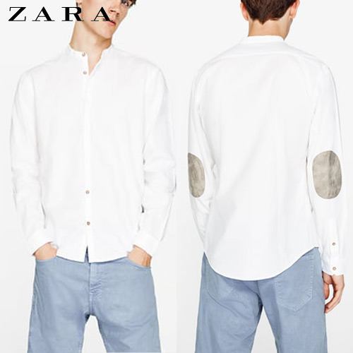 [ZARA] China Collar WH Shirts