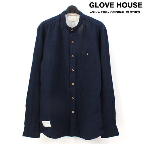 [GLOVE HOUSE] China Collar Linen L/S Shirts 린넨셔츠