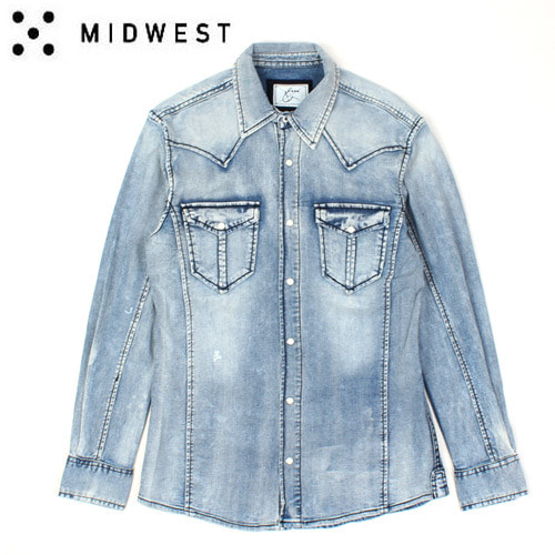 [MIDWEST/ENERGIE] Washing Denim Shirts 에너지 데님셔츠