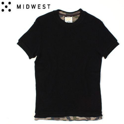[MIDWEST] C.T.V  Camo Layered S/S Tee 카모레이어드티