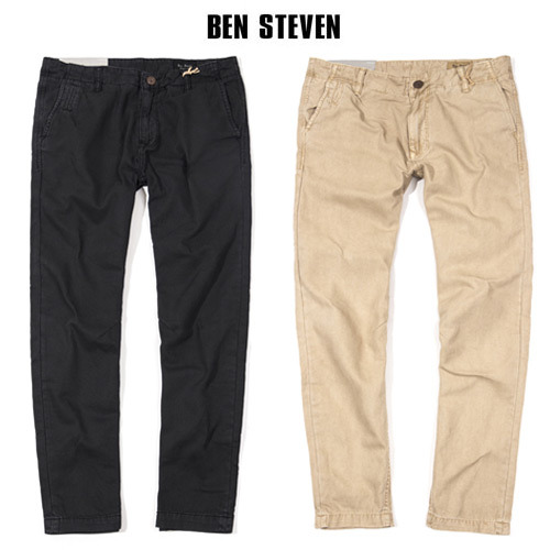 [BEN STEVEN] WASHED CHINO PANTS