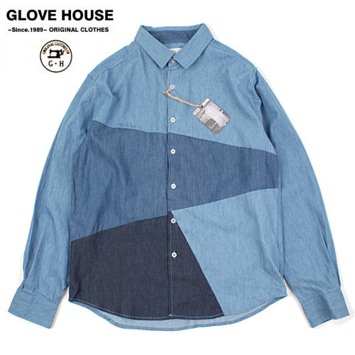 [GLOVE HOUSE] DENIM BLUE L/S Shirts 데님배색셔츠