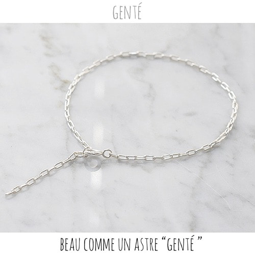 [GENTE] mini chain Bracelet (ALL SILVER)