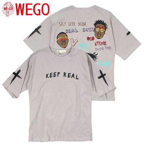 [WEGO] KEEP REAL S/S Tee 프린트티