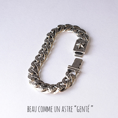 [GENTE] STAR CHAIN Bracelet (ALL SILVER)