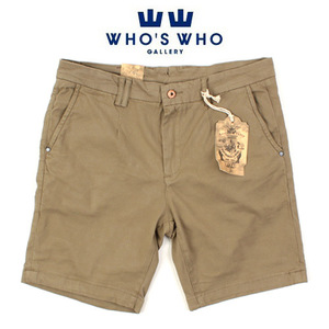 [WHO'S WHO] Khaki Short Pants 후즈후 카키반바지