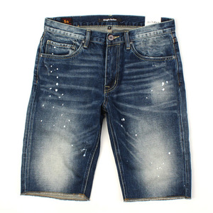 [SINGLE SAILOR] PAINTING WASHING SHORT DENIM A6683