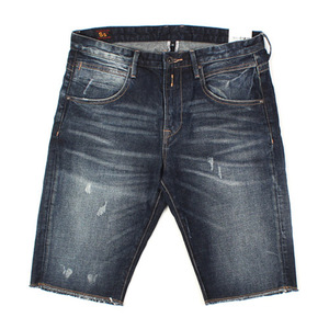 [SINGLE SAILOR] DAMAGE WASHING SHORT DENIM A6679