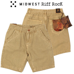 [MIDWEST] RIFF ROCK BEIGE SHORTS
