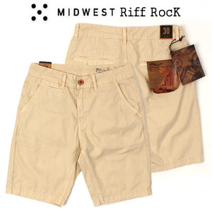 [MIDWEST] RIFF ROCK LIGHT BEIGE SHORTS