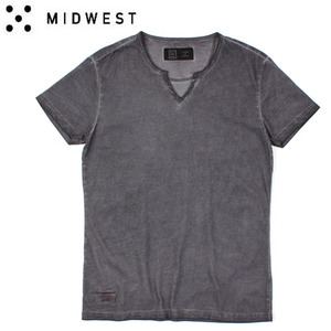 [MIDWEST] CTV Y-NECK WASHING TEE