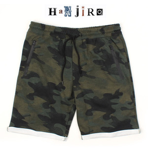 [HANJIRO Japan] CAMO ROLL-UP SHORTS
