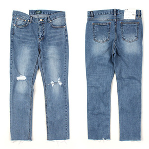 [AUTHENTIC] Cut Damage washing jeans 컷팅 데미지스판워싱진