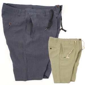 [HANJIRO Japan] Wrinkle Pocket LINEN SHORTS