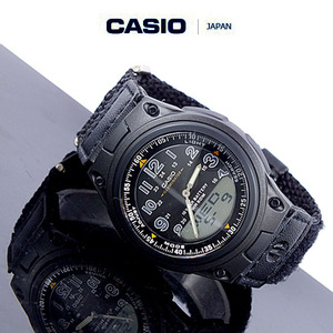[CASIO JAPAN] CHIP MILI WATCH BLACK