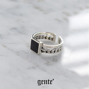 [GENTE]  Pascal Square Double chain ring NO.2
