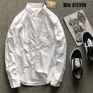 [BEN STEVEN] WHITE NB SHIRTS 벤스티븐 코튼셔츠