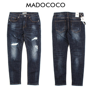 [MADOCOCO] Damage Washing Blue Denim 데미지워싱데님