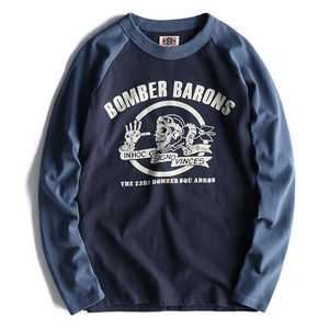 [HANJIRO japan]AIR FORCE Printed Raglan T NO.1