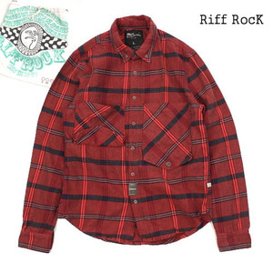 [MIDWEST]Riff RocK Red chek NB 포켓체크셔츠