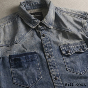 [MIDWEST]Riff RocK Pocket Washing Denim Shirts 2018FW