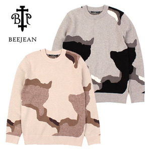 [BEEJEAN] MILLITARY CAMO KNIT SWEATER 카모니트